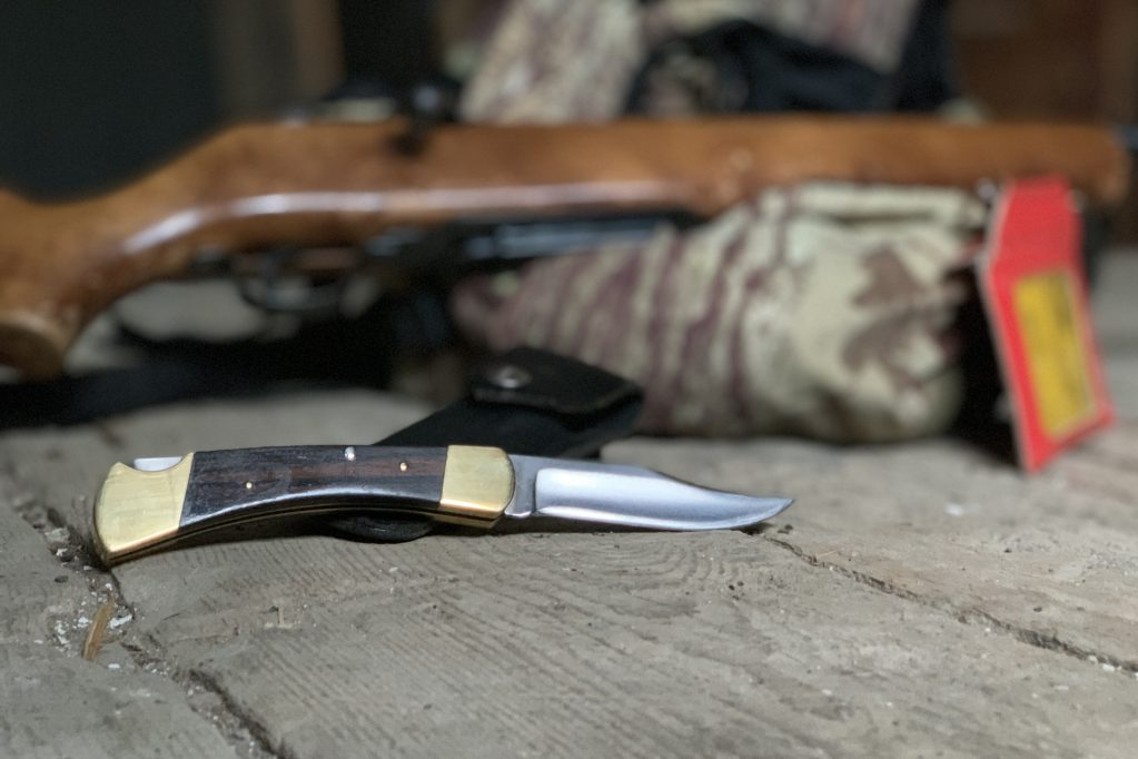 The Buck 110. Popular with troops in Vietnam and a great hunting knife too. Photo by Matt Smythe/Free Range American.