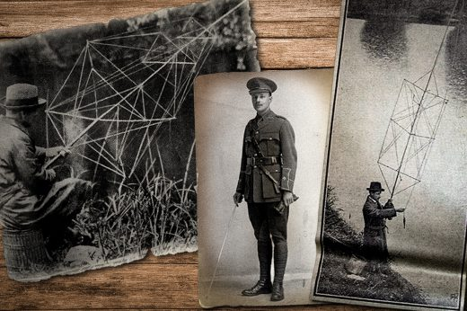 Pvt. John Henry Hirst used his own peculiar spider-web fly-fishing rod to catch fish for British troops during World War I.