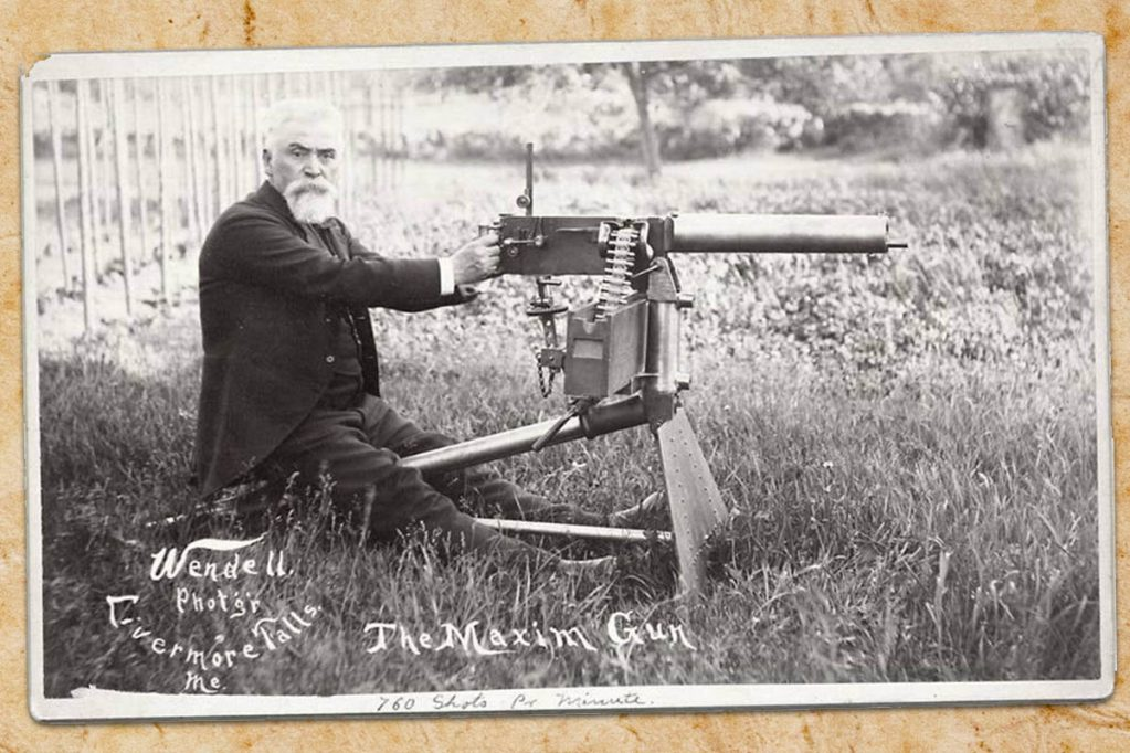 Sir Hiram Stevens Maxim maxims machine gun suppressor